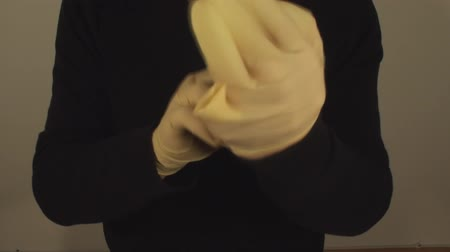 luva : Man Removing Latex Gloves, Hospital, Hygiene, Protection, Front-Shot
