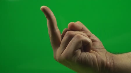klucz : Flipping The Bird On A Green Screen, Chroma, Key, Signs, Gestures