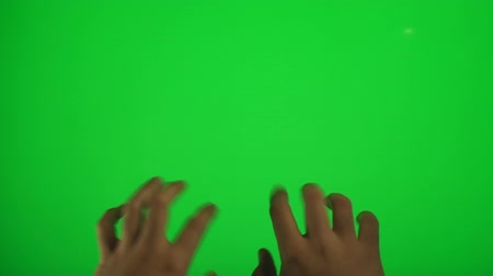 chroma key background : Hands Typing On A Green Screen, Chroma, Key, Detail, Gesture