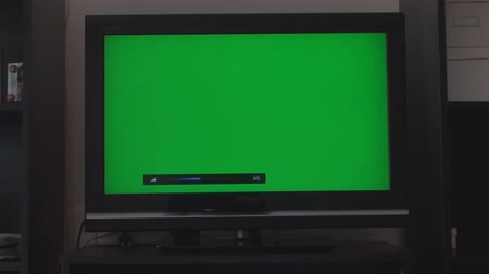 chroma key background : Turning Down The Volume On A HDTV With A Green Screen, Chroma, Key, Front Shot