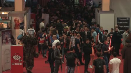 cômico : Bucharest, May The 10th, East European Comic Con, People Walking Aerial View