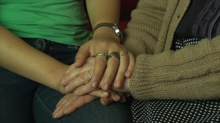 anne : Hand Details Old And Young Woman, Generations, Elderly, Family, Love, Pan