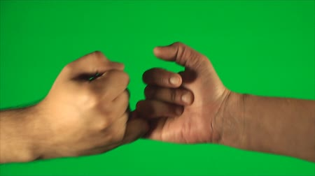 pinky : Pinky Swear On A Green Screen, Hands, Detail, Chroma, Key, Gesture, High Angle