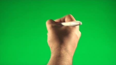 escrever : Hand Signing With A Pen On A Green Screen, Chroma, Key, Gesture, Detail