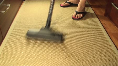 cleaning products : Vacuum Cleaner On A Bamboo Carpet, Cleaning, House, Chore, Tilt Shot
