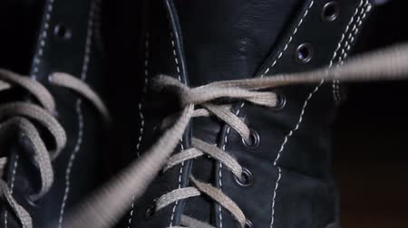 camurça : Woman Hands Untying Shoelaces, Boots, Hands, Shoelace, Detail, Close Up
