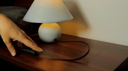 turning off : Hand Turning Off A Nightstand Lamp, Bedroom, Lamp, Switch