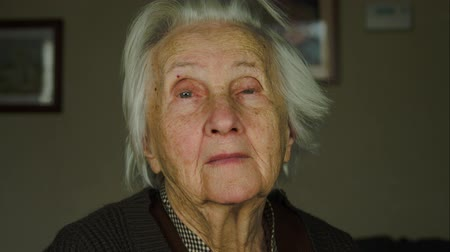cidadão idoso : Portrait Of A 99 Years Old Woman Looking At The Camera, Senescence, Nostalgia