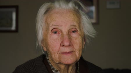 strong granny : Portrait Of A Lonely Old Woman, 99 Years Old, Senescence