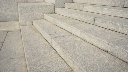 Stairs made of stone Stockvideo