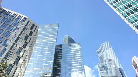 moskova : Complex of high-rise glass buildings Stok Video