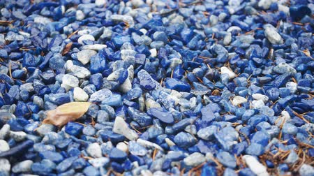 kočičí hlava : The surface of blue and white decorative small stones
