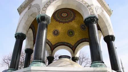 fancier : German fountain Sultanahmet Istanbul tilt shot