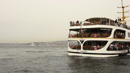 conventional : Istanbul passenger ferries Poop of a  domestic departing