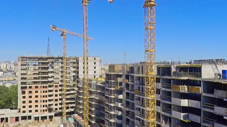 site : Urban construction site, aerial view Stock Footage