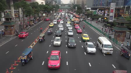 múltiplas : Big traffic jam in Bangkok