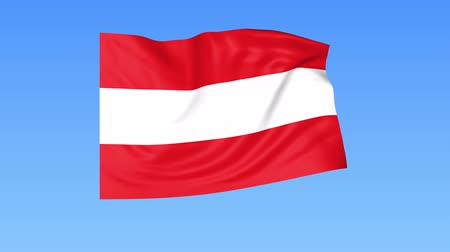 unify : Waving flag of Austria, seamless loop. Exact size, blue background. Part of all countries set. 4K ProRes with alpha. Stock Footage