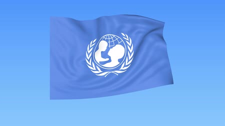 unicef : UNICEF flapping flag. Seamless looping, 4K ProRes with alpha channel