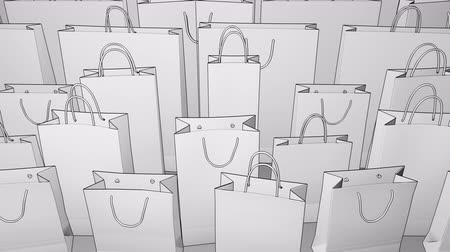 conventional : Sketch shopping bags. Seamless loopable 4K clip