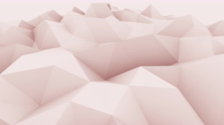 csúcs : Rose abstract triangular modern motion background for presentations and reports. 4K seamless loop animation