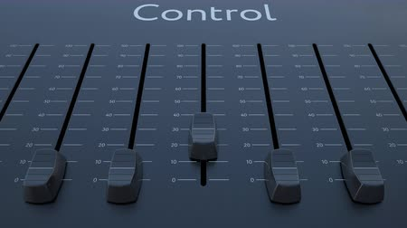 минимальный : Sliding fader with control inscription. Conceptual 4K clip