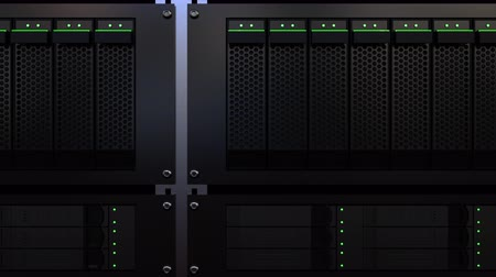 serwerownia : Server racks. Cloud storage technology or modern data processing center concepts. 4K seamless loop motion background