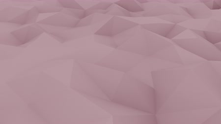 dalgalanan : Edge and vertex polygonal pink motion background for reports and presentations. Stok Video