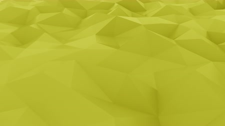 dalgalanan : Glossy polygonal yellow surface. Loopable hi-tech motion background