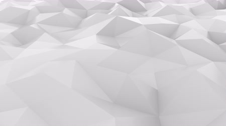 dalgalanan : Fluctuating smooth white polygonal surface. Loopable hi-tech motion background