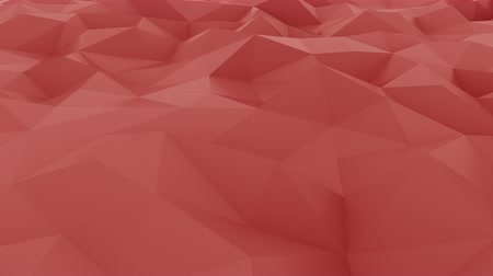 dalgalanan : Glossy red polygonal motion background. Seamless loop Stok Video