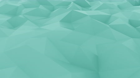 esverdeado : Abstract edge and vertex cyan motion background. Loopable 4K animation