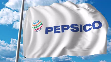 pepsico : Waving flag with Pepsico logo.