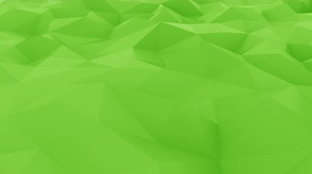 csúcs : Abstract glossy polygonal green surface. Loopable motion background