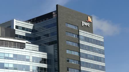 pwc : WARSAW, POLAND - SEPTEMBER 8, 2017. PricewaterhouseCoopers PwC office building