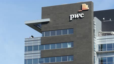 pwc : WARSAW, POLAND - SEPTEMBER 8, 2017. PricewaterhouseCoopers PwC modern office building