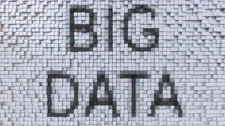 dalgalanan : BIG DATA caption on fluctuating pixels motion background, seamless loop animation