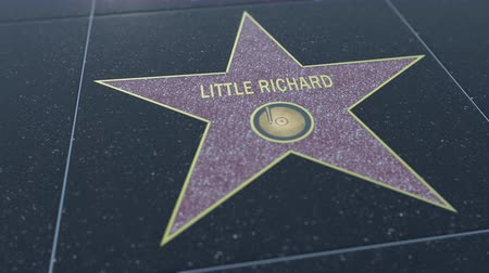 richard : Hollywood Walk of Fame star with LITTLE RICHARD inscription. Editorial clip