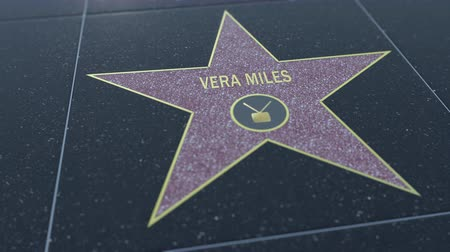вера : Hollywood Walk of Fame star with VERA MILES inscription. Editorial clip