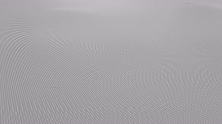 tek renkli : Abstract light gray wavy surface made of small balls, loopable motion background