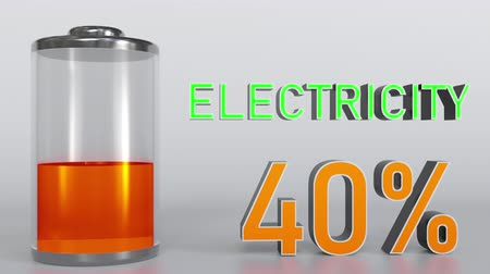 mínimo : Electricity indicator goes up, conceptual 3D rendering