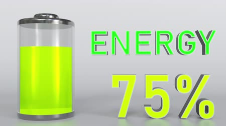 mínimo : Energy indicator getting low. 3D rendering