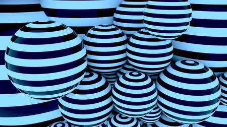 podobný : Blue striped balls loopable motion background