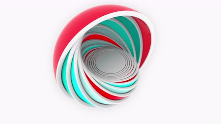 compatibility : Abstract multicolor bowls fit each other. 3D design or size related loopable animation