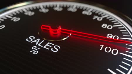 mínimo : Sales meter or indicator conceptual animation Stock Footage