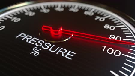 минимальный : Pressure meter or indicator conceptual animation Стоковые видеозаписи