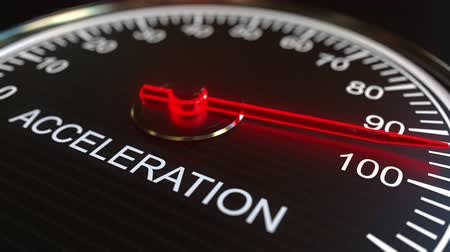 mínimo : Acceleration meter or indicator conceptual animation Stock Footage