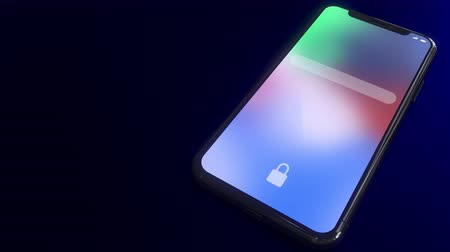 kurmak : Connection established notification pops up on the screen of a modern smartphone. Conceptual 3D animation Stok Video