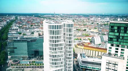 metropolitan area : BERLIN, GERMANY - APRIL 30, 2018. Aerial view of Upper West Tower and cityscape