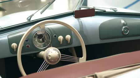 roadster : Dashboard of a retro sports car