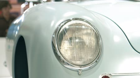 roadster : Headlight of a retro sports car